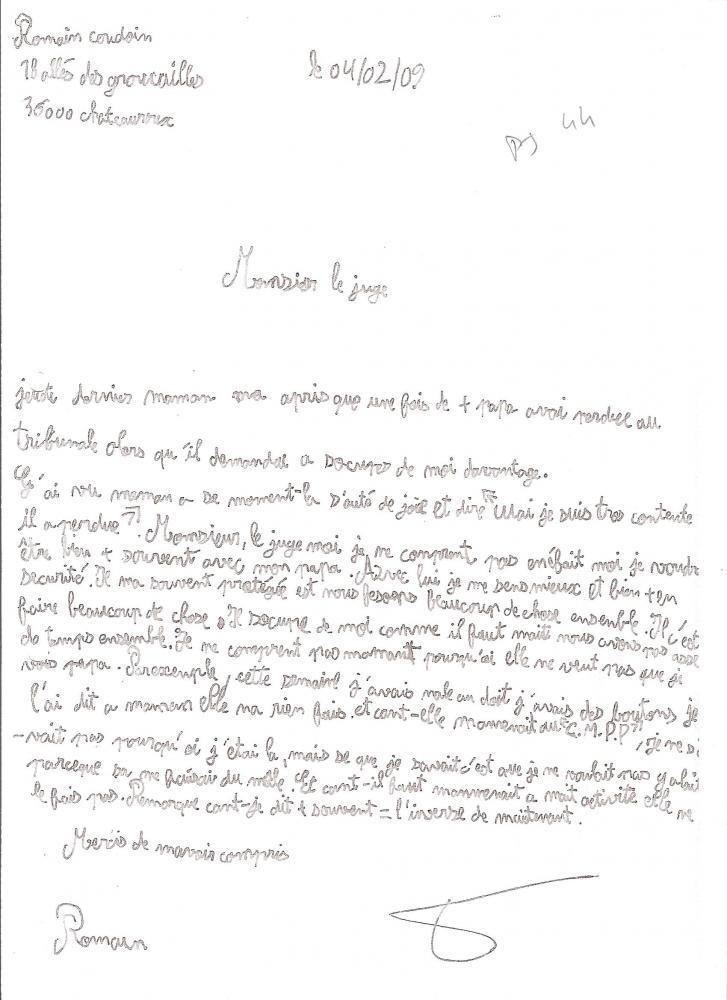 lettre au juge de l enfance